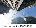 modern business office city... | Shutterstock . vector #590039501