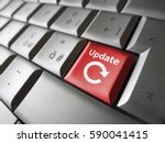 website and internet update... | Shutterstock . vector #590041415