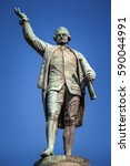 the statue of captain james... | Shutterstock . vector #590044991
