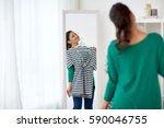 clothing  wardrobe  fashion ... | Shutterstock . vector #590046755