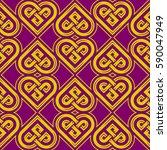 celtic heart shape vector...   Shutterstock .eps vector #590047949