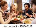 leisure  food  drinks  people... | Shutterstock . vector #590048117