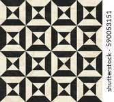 antique geometric floor pattern ... | Shutterstock .eps vector #590053151