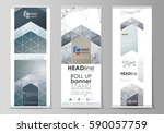roll up banner stands  abstract ... | Shutterstock .eps vector #590057759