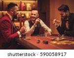 group of upper class men... | Shutterstock . vector #590058917