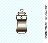 sport water bottle outline icon | Shutterstock .eps vector #590060504