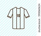 football uniform outline icon