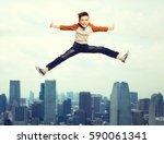 happiness  childhood  freedom ... | Shutterstock . vector #590061341