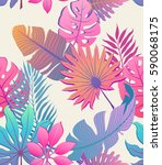 decorative colorful palm tree... | Shutterstock .eps vector #590068175