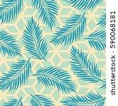 summer background with tropical ... | Shutterstock .eps vector #590068181