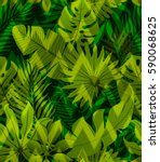 zigzag strips on green tropical ... | Shutterstock .eps vector #590068625