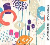 brush stroke seamless pattern.... | Shutterstock .eps vector #590068631