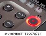 closeup of record button on... | Shutterstock . vector #590070794