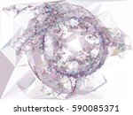abstract multicolor mosaic... | Shutterstock .eps vector #590085371