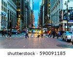 new york city   circa 2017 ... | Shutterstock . vector #590091185