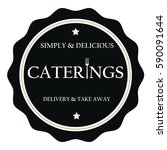 simply and delicious caterings... | Shutterstock .eps vector #590091644