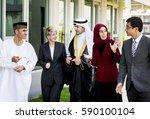 diverse business people talk...   Shutterstock . vector #590100104