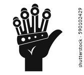 vr manipulator icon. simple... | Shutterstock .eps vector #590102429