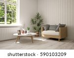 white room with armchair and... | Shutterstock . vector #590103209