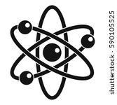 atom with electrons icon