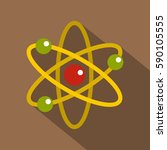 nucleus and orbiting electrons