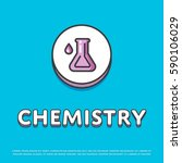 chemistry colour round icon... | Shutterstock .eps vector #590106029