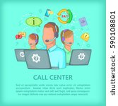 agent call center concept team. ... | Shutterstock .eps vector #590108801