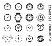 clock icon isolated. time logo  ... | Shutterstock .eps vector #590109815