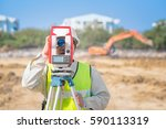 construction engineer checking... | Shutterstock . vector #590113319