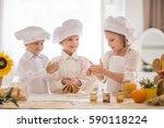 Happy Little Children In The...