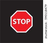 stop vector | Shutterstock .eps vector #590118479