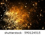 abstract golden square bokeh on ... | Shutterstock . vector #590124515