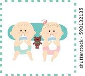 cute baby .vector illustration | Shutterstock .eps vector #590132135