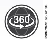 360 degrees view sign icon | Shutterstock .eps vector #590134781