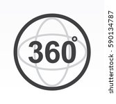 360 degrees view sign icon | Shutterstock .eps vector #590134787
