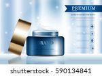 hydrating facial cream for... | Shutterstock .eps vector #590134841
