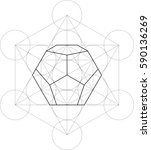 sacred geometry   dodecahedron | Shutterstock .eps vector #590136269