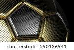 metallic soccer ball. 3d... | Shutterstock . vector #590136941