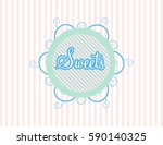 knitted baby icon | Shutterstock .eps vector #590140325