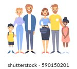 set of young couples with... | Shutterstock .eps vector #590150201