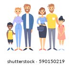 set of young couples with... | Shutterstock .eps vector #590150219