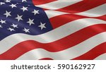 closeup of american flag on... | Shutterstock . vector #590162927