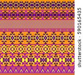 ethnic seamless pattern with... | Shutterstock .eps vector #590165435