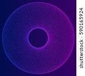 circular wireframe mesh logo... | Shutterstock .eps vector #590165924