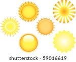 set of sun orbs | Shutterstock .eps vector #59016619