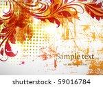 floral background | Shutterstock .eps vector #59016784
