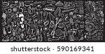 hand drawn food elements. set...   Shutterstock .eps vector #590169341