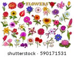 vector illustration of sticker... | Shutterstock .eps vector #590171531