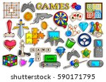 vector illustration of sticker... | Shutterstock .eps vector #590171795