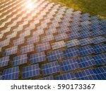 solar panels  solar cell  in... | Shutterstock . vector #590173367